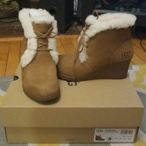 fc360ad43386 UGG Shoes - UGG Jeovana Wedge Heel Booties Size 8